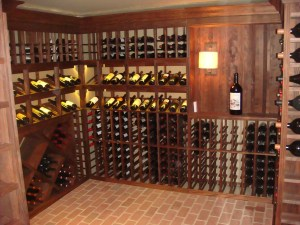 fascinating-minimalist-wine-cellar-design-using-traditional-furniture-with-wooden-shelving-combined-with-traditional-lighting-ideas