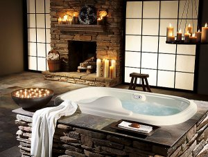 luxury-bathroom-design-with-stone-and-candlesticks